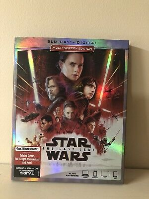 Star Wars: The Last Jedi (Blu-ray Disc, 2-Disc Set) Includes Slipcover