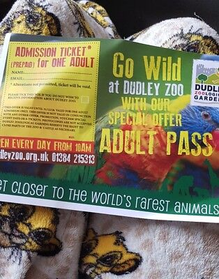 Dudley Zoo Adult Ticket