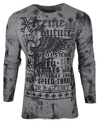 Xtreme Couture by AFFLICTION Men THERMAL T-Shirt SPEED COUTURE Biker MMA Gym $58