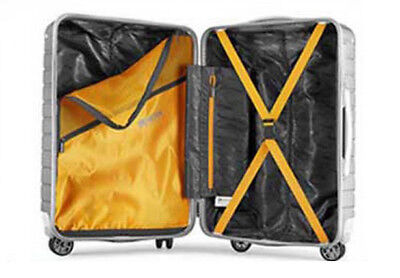 E34 Black Lock Universal Wheel ABS+PC Travel Suitcase Luggage 24 Inches W
