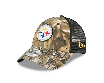 373a42af Pittsburgh Steelers New Era Realtree Trucker Mesh 9Forty Adjustable hat -  Camo