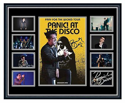 Panic! At The Disco 2018 Pray For The Wicked Signed Limited Framed Memorabilia