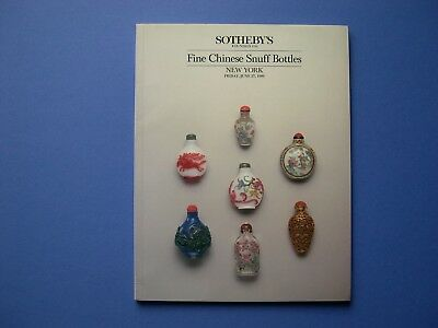 Sotheby's - Ny * Fine Chinese Snuff Bottles * 1986 * Chalcedony * Peking Glass
