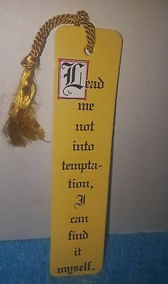 Vintage Antioch Groan Ups Lead Me Not Into Temptation 1984 Yellow Bookmark Mint