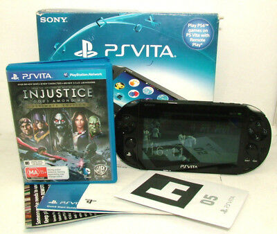 Sony Playstation PS Vita PCH-2002 PCH 2002 Console w/ USB Charger - *BONUS* Game