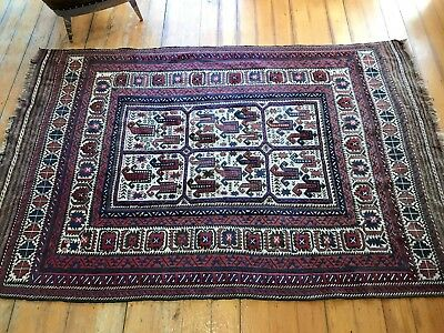 Vintage Persian Floor Rug~Pure Wool-Stunning Colours & Design~Hand Knotted