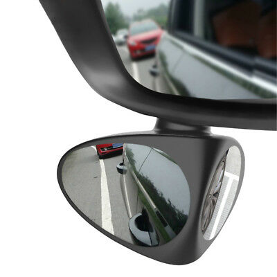 1x Car Two-sided Blind Spot Mirror Wide Angle 360 Paste Under Rear View Mirror