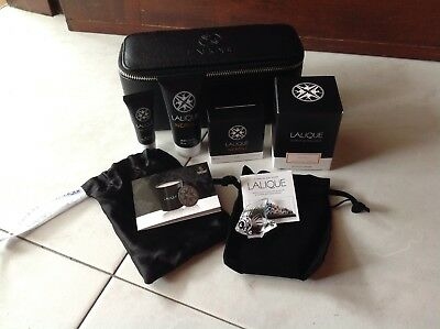 LALIQUE x Singapore Airlines First Class Amenity Toiletries Kit Male PLUS FISH!