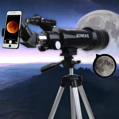 70mm Beginners Refractor Astronomical Telescope Gift with Tripod & Phone Adapter