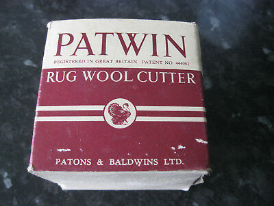 Vintage Bakelite Patwin Rug wool cutter with box and  instructions