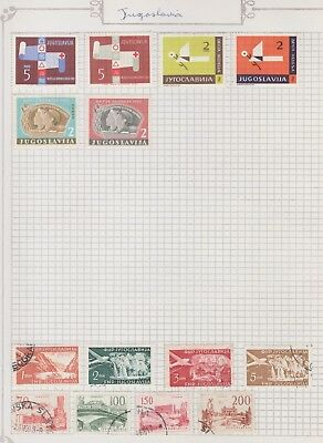 YUGOSLAVIA Collection Red Cross, AIR, Sailors, USED MH etc, per Scan  #