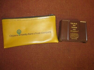 old CITIZENS FIDELITY Bank and Trust DEPOSIT BAG and BANTHRICO Coin Bank