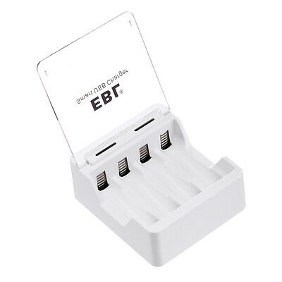 Smart USB Battery Charger 4 Slots For AA AAA Ni-MH/Ni-CD Rechargeable Batteries