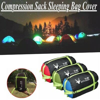 Compression Sack Sleeping Bag Cover Pouch Clothing Stuff Holder Hiking Camping
