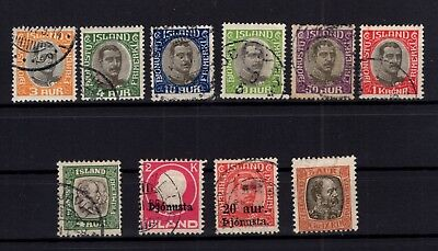 P79573 / Islande / Iceland / Official / Lot 1902 / 1922 Obl / Used 105 €