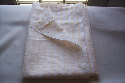 "Vtg 40's Windowpane Dimity Dotted Swiss Sheer Doll Dress Cotton Fabric 34"" Wide"