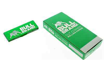 Bull Brand Green Cut Corner Rolling Papers - Genuine - 1 5 10 25 50 100 Booklets