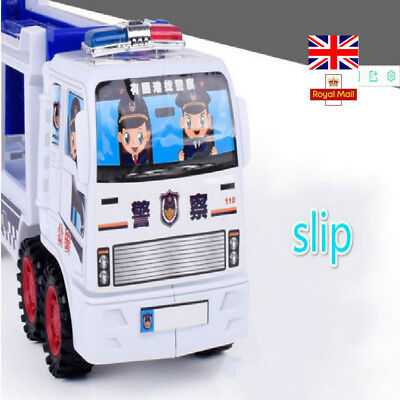 New Police Inertia Tractors Car Children's Toy Transport Big Truck Gifts