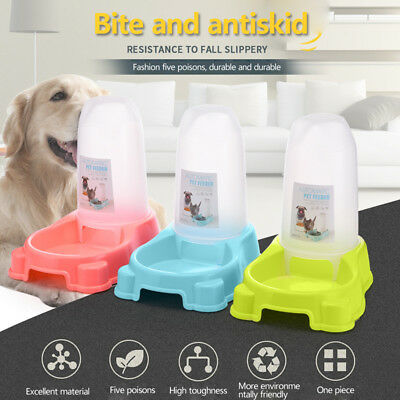 Large Automatic Pet Dog Cat Water Feeder Bowl Bottle Dispenser Plastic 1200ML