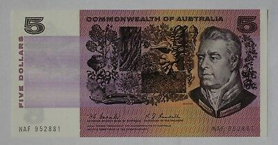 1967 $5 Note Unc Coombs / Randall