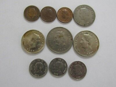Lot of 10 Different Old El Salvador Coins - 1956 to 1977 - Circulated