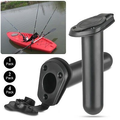 1x2x4x Flush Mount Fishing Boat Rod Holder Bracket With Cap Cover for Kayak Pole