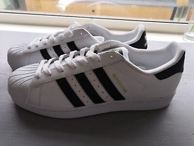 Adidas Superstar Size 9 White with Black Stripes