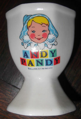 Vintage Collectible Cartoon Andy Pandy egg cup