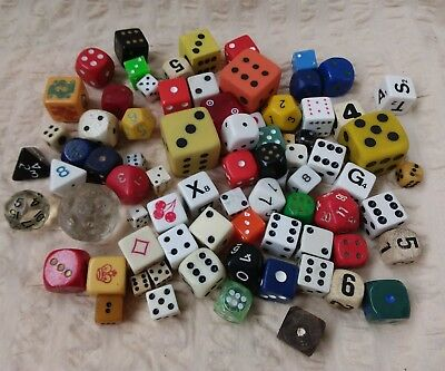 Collectable Bulk Lot Of 75 Dice