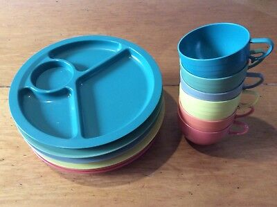 Vintage Kingsley-ware Colourvision picnic snack set