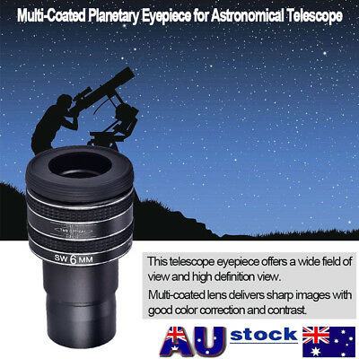 """1.25"""" Mental 58° 6mm Multi-Coated Planetary Eyepiece for Astronomical Telescope"""