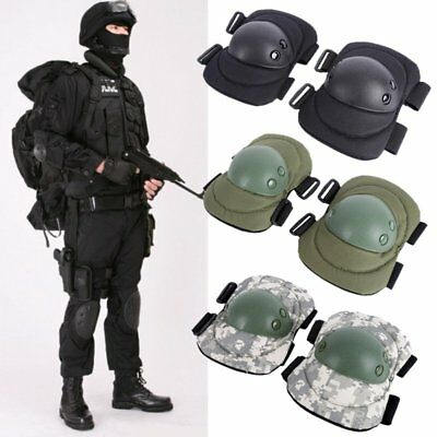 4x Knee Elbow Protective Pad Protector Gear Sports Tactical Airsoft Combat Skate