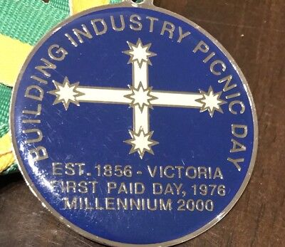 Building Industry Picnic DayEst 1856, First Paid Day 1976, Millennium 2000'Badge