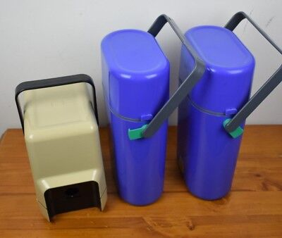 vintage collectable decor wine cooler cask holder bottle cases lot of 3 classic