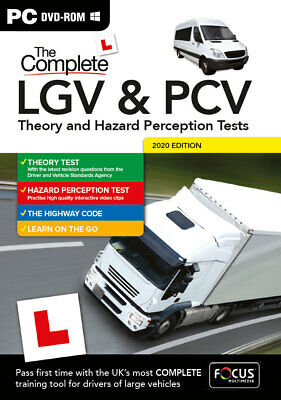 Complete Lgv Hgv Pcv Dsa Dvsa Theory Test Hazard Perception Pc Dvd Cd 2018/2019