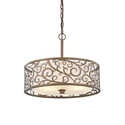 Home Decorators Collection Carousel 3-Light Burnished Gold Pendant New