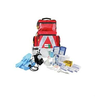 Emergency Backpack with First Responder Filling pro Red Large Aid