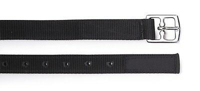 Shires Easy Care Non Stretch Adults Hi Lite Stirrup Leathers Black 56 Inch