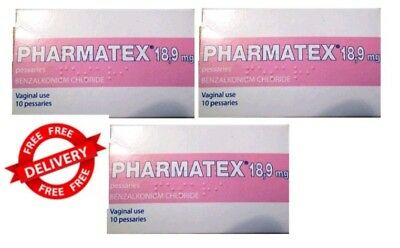 Pharmatex 10  Vaginal Pessaries  X 18.9mg Topical Contraceptive pack of 3