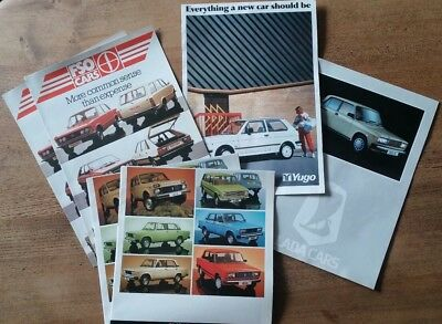 1980s car sales brochures and price lists for Lada, Yugo and FSO