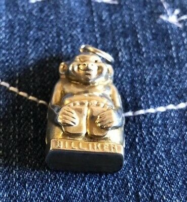 Rare 1909 SterlingSilver Lucky Billiken Charm- William Vale & Sons- Birmingham