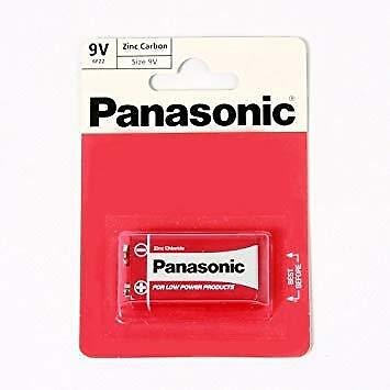 Panasonic 9V Zinc Carbon Chloride Battery 9 V Block PP3 Cell