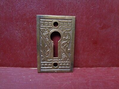 Antique Large Cast Brass Keyhole Covers More Available #7