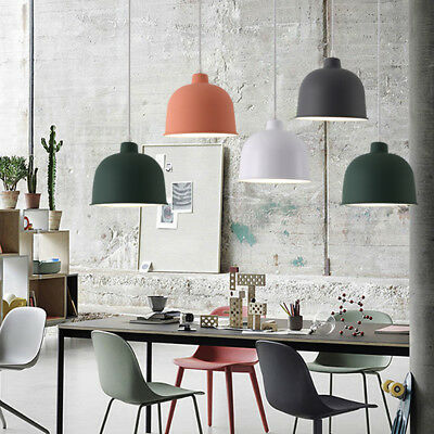 Nordic Style Colorful Vintage Pendant Light Fitting Metal Lampshade Ceiling Lamp