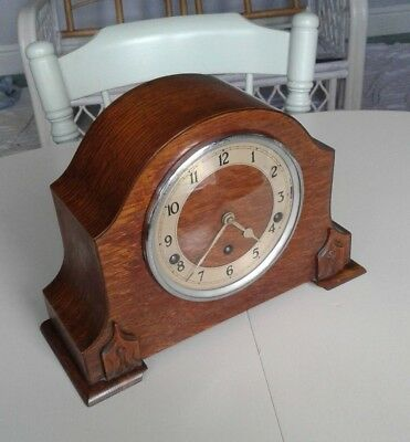 1931 Garrard Oak Cased Quarter Westminster Chime Mantel Clock