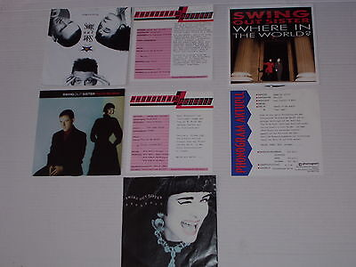 """SWING OUT SISTER  - 4 x 7"""" Sammlung  mit Product Facts Promo-Flyer"""