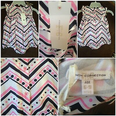 baby girls french connection playsuit all in one 6-9mths new