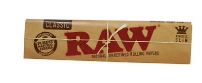 5 x RAW Rolling Papers King Size Slim Classic Natural Unrefined