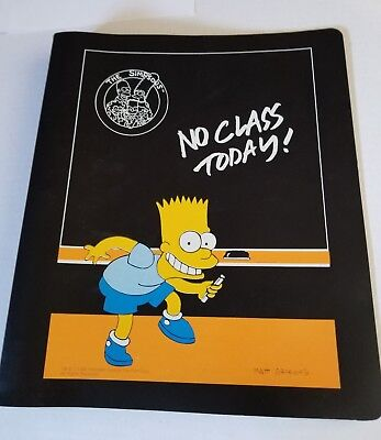 Vintage The Simpsons Binder With 26 Cards