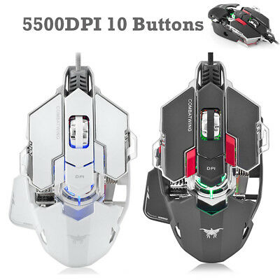 5500 DPI Adjustable Optical USB Wired Gaming Mouse Gamer Game Mice for PC Laptop